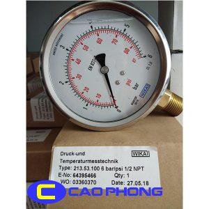 Đồng hồ đo áp suất Wika 213.53 5