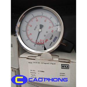 Đồng hồ đo áp suất Wika 213.53 4