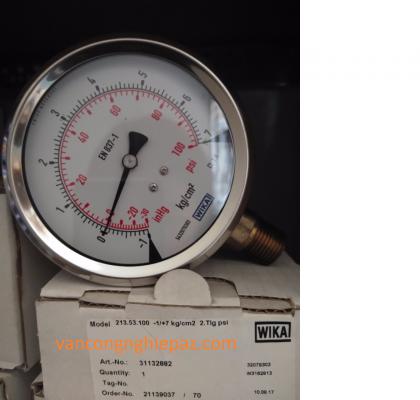 Hình ảnh thực tế Đồng hồ đo áp suất Wika 213.53