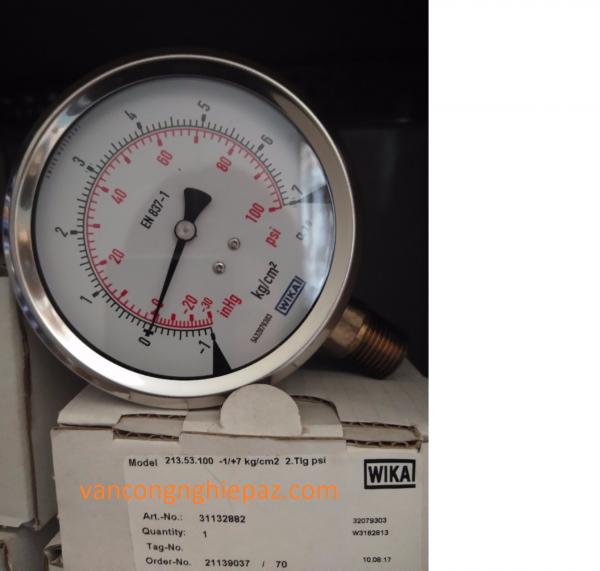 đồng hồ đo áp suất Wika 213.53